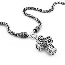 cross pendant necklace silver images Retro thai silver cross pendant necklace 925 sterling silver jpg