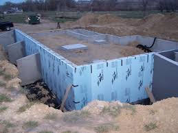 home construction perimeter drain damproofing and exterior wall