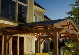 Pergola Designs With Roof by Optional Metal Roof Lodge Pergola Pergola Accessories Pergolas