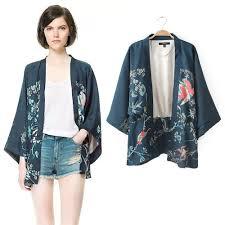cardigan kimono women floral print batwing sleeve casual kimono cardigan outerwear