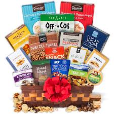 Snack Basket Delivery Snack Gift Basket Deluxe By Gourmetgiftbaskets Com
