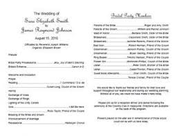 traditional wedding program wording traditional wedding program template wedding programs
