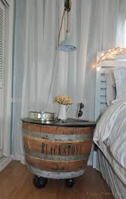 why bedside tables and getting them just right hometriangle a wine barrel on castors is a statement bedside table