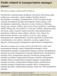 Branch Manager Resume Sample by Top 8 Transportation Manager Resume Samples