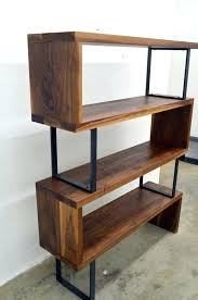 bookcase iron bookcase wood shelves metal bookcase with wood