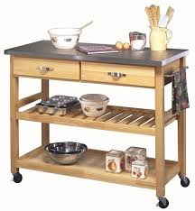 solid wood kitchen island cart solid wood kitchen island stainless steel top storage cart utility