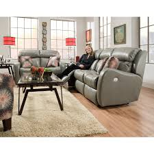 Double Reclining Sofa by Double Reclining Sofa With Power Headrests And Pillows By Southern
