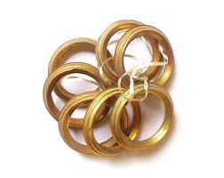 Antique Brass Curtain Rings Large Curtain Rings Etsy