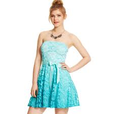 as u wish juniors strapless lace ombre dress in blue lyst