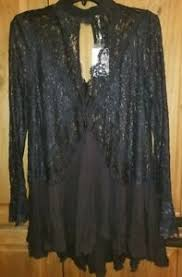 free people secret origins pieced lace tunic black size xs nwt ebay