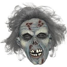 Zombie Mask Smiffy U0027s Decaying Blue Zombie Mask Latex For Halloween Ebay