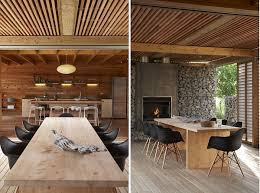 Home Design Ideas New Zealand Excellent Wooden Wall Interior Beach Summer House In New Zealand