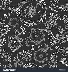 black gift wrapping paper seamless vector floral pattern wallpaper gift stock vector