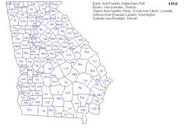 ga map historical city county and state maps of