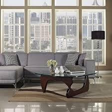 isamu noguchi coffee table lexmod isamu noguchi coffee table with dark walnut base amazon ca