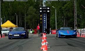 bmw vs audi race drag race bmw m6 vs lamborghini huracan vs audi r8 dpccars