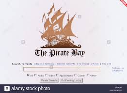 pirate bay logo of the pirate bay internet site stock photo royalty free
