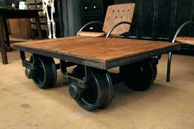 industrial coffee table with wheels industrial coffee table on wheels topic related to industrial coffee