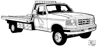 free coloring pages flat bed tow trucks 9473 bestofcoloring