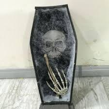 coffin trinket box halloween coffin with led halloween decorations