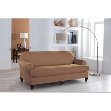 T Cushion Loveseat Slipcover Serta Stretch Fit Microsuede Slipcover Sofa 2 Piece T Cushion