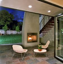 san francisco modern outdoor fireplace patio with exterior