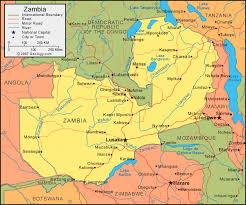 map of zambia zambia map and satellite image