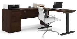 Adjustable Height Workstation Desk by Red Barrel Studio Bormann L Shape Standing Desk With Height