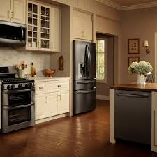 kitchen design white cabinets black appliances photos hgtv