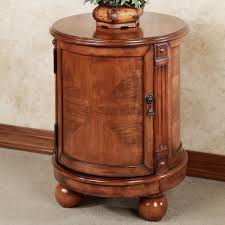 Rustic Round End Table Classic Round Storage End Table Small Round End Table Solid Wood