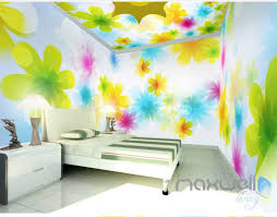 Watercolor Wallpaper For Walls by 3d Bright Watercolor Flowers Entire Living Room Bedroom Wallpaper