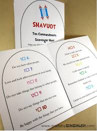 ten commandments scavenger hunt for shavuot madebymamaleh