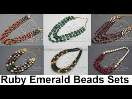 beads necklace india images Indian beads jewellery designs in gold jpg