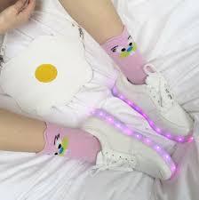 where can i buy light up shoes shoes white cute sweet kawaii pink egg grunge soft grunge