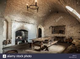 A Dining Roomkitchen Inside A Medieval Castle Stock Photo - Castle dining room
