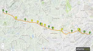 Map Of Atlanta Metro Area by Silver Comet Trail