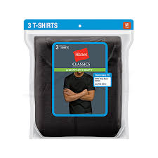 Hanes Our Most Comfortable Hanes Classics Mens Traditional Fit Comfortsoft Tagless Dyed Black