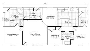 Kitchen Floor Plans With Walk In Pantry Model Ph28603a Manufactured Home Floor Plan Or Modular Floor Plans