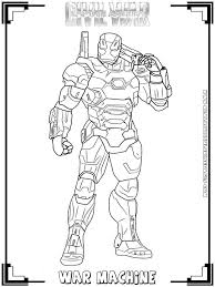coloring picture of iron man picture printable of war machine