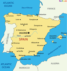 San Sebastian Spain Map by Simple Spain Map Google Search Spain Pinterest Spain And