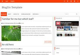 blogzin simple blogger template free download 2018