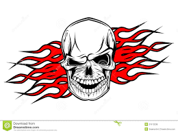 danger skull tattoo stock vector image of evil abstract 21613238