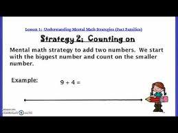 2nd grade mental math 2nd grade lesson 1 mental math strategies fact families