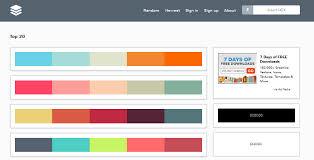 color combo generator best color palette generator for 2014
