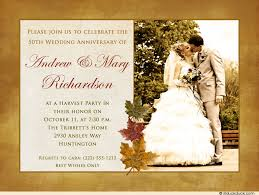 Wedding Wishes Regrets Harvest Anniversary Party Card Leaves Invitation