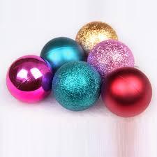 24pcs 4cm baubles glitter chic balls