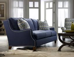 Livingroom Club Sam Moore Tansy Sofa Navy Blue With Nail Head Trim Furniture