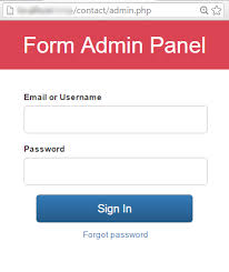 contact admin jquery form admin panel url