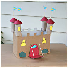 for your little prince or princess a recycled cereal box castle