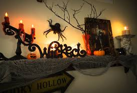 magnificent halloween mantel ideas display miraculous wooden white